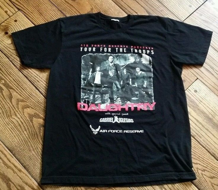 Daughtry Air Force Reserve Tour for Troops Gabriel Iglesias concert Shirt. 352