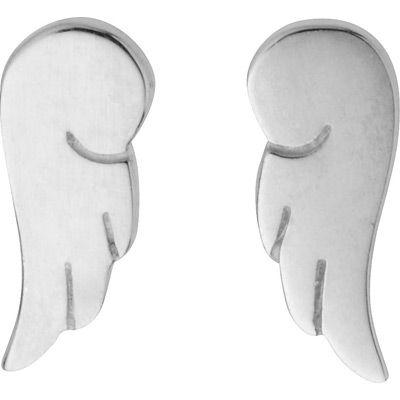 Pour votre petit ange !  Boucles d'oreilles Aile d'ange (argent)  - Kidou