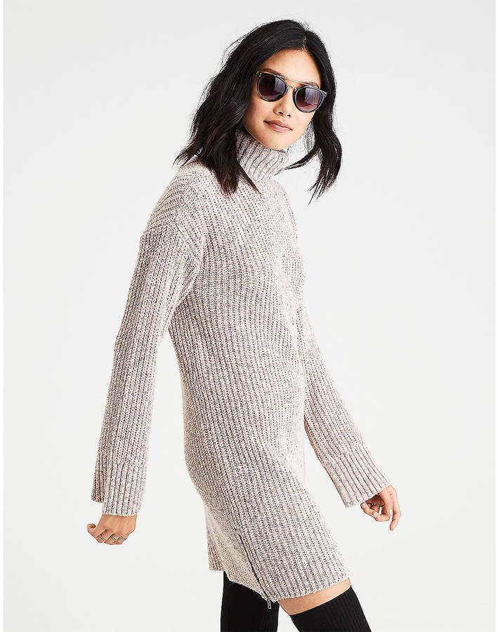5d3f0df9975 Aeo AE Ahh-Mazingly Soft Turtleneck Sweater Dress