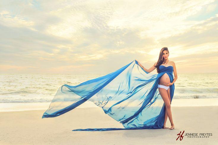 Rachel Gown - Long Flowing Sheer Chiffon Sweetheart Style Maternity Gown