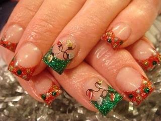 Christmas lights #christmas #lights #manicure #pedicure #fingernail #finger #nail #polish #lacquer #paint