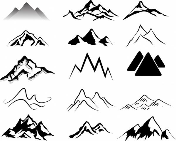 Svg mountains free vector download (85,231 Free vector) for ...