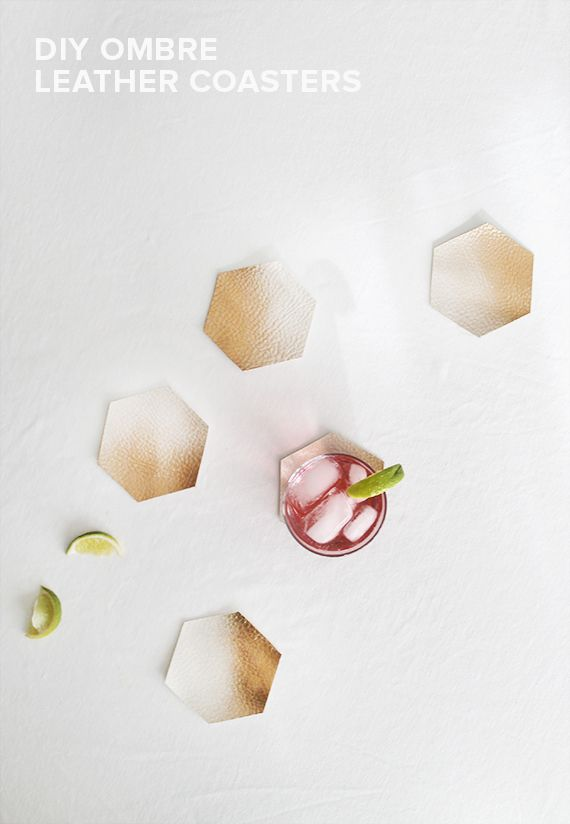 Give your drinks a classy resting place with this DIY coaster plan. Spray paint or buff them to fit any color scheme!