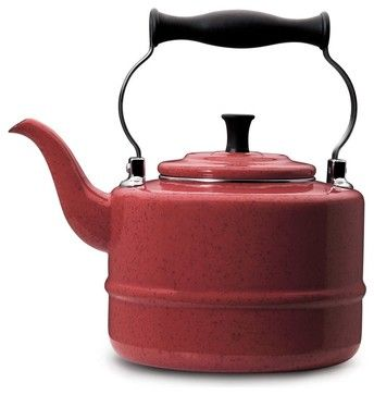 cooffee pots and tea kettles | ... Porcelain Red Tea Kettle traditional coffee makers and tea kettles