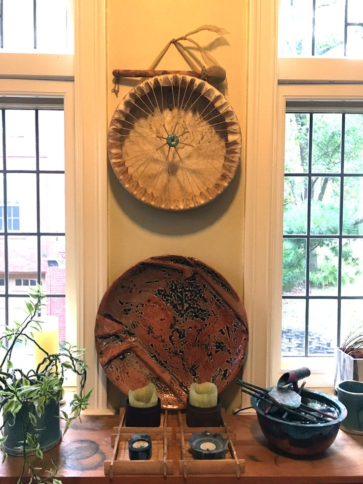 Large slab built dinnerware platter with Malcolm Davis Shino. Made by Linda Wiggen Kraft at Craft Alliance St. Louis, U City Loop