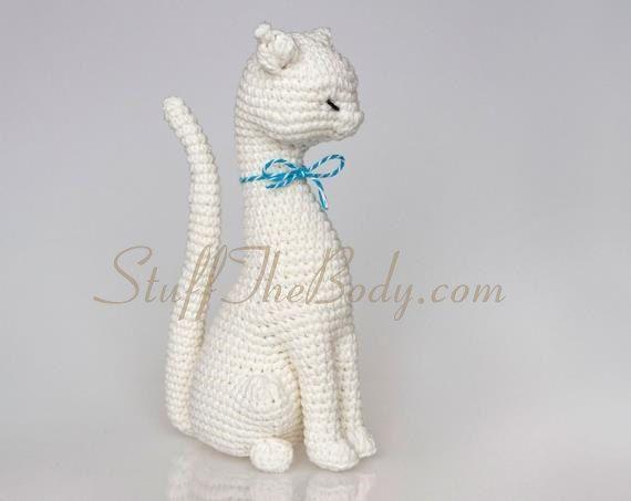 Amigurumi Häkelanleitung Katze Princess von StuffTheBody auf Etsy