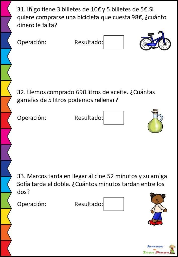 Cuadernillo De Problemas Matematicos Para Primaria Problemas Matematicos Acertijos Matematicos Para Primaria Matematicas