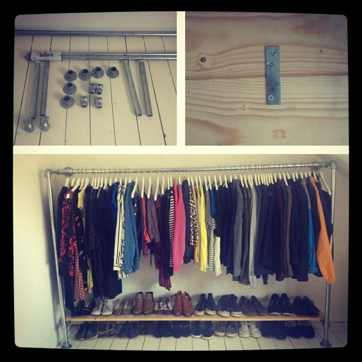 Completed scaffolding wardrobe