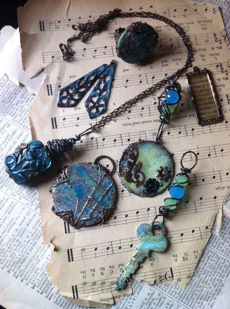 Vintaj UTEE enamel technique. (So many crafts I'd like to try. . .)
