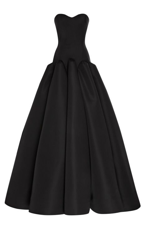 Shop Silk Faille Strapless Gown by Zac Posen for Preorder on Moda Operandi
