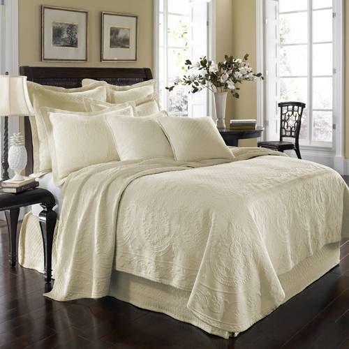 historic charleston king charles matelasse ivory bedding by historic charleston bedding