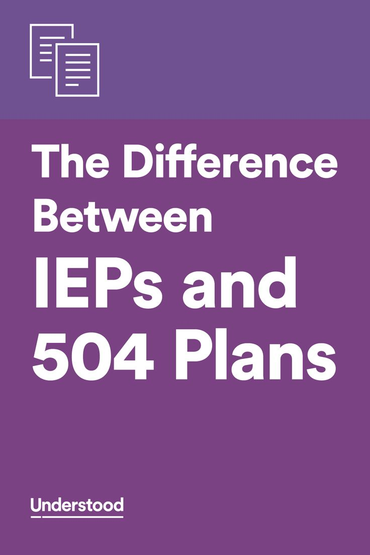 A chart that compares IEP and 504 plans side by side. I need this.