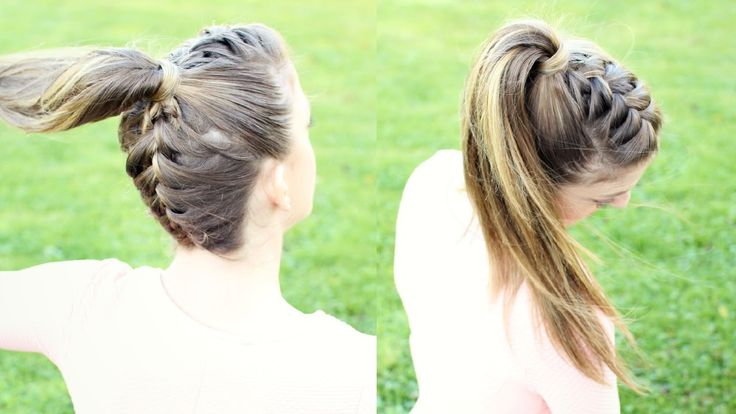 Upside down French Braid Ponytail | Braidsandstyles12