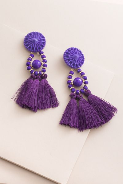 1a3772618 Zoya Tassel Earrings | Purple $12 | Tassel Obsessed in 2018 ...
