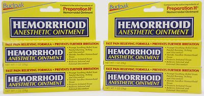 Hemorroidal Ointment active ingredients of Preparation H Anesthetic Ointment (4 Pack)    Compare to the active ingredients of Preparation H    Use this pain relieving formula to prevent further irritation. Prompt soothing relief form painful burning, itching, and discomfort. Shrinks swollen Hemorrhoid Tissue. It also protects irritated tissue and relieves internal and external discomfort