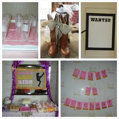 Cowgirl country themed bachelorette party!