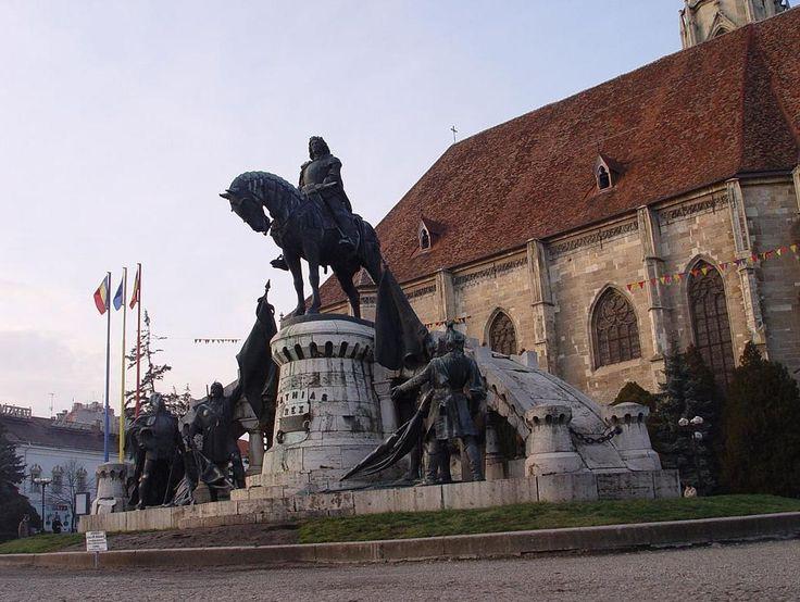 Nagy Magyarország idejéböl tanuskodó szobor eggyüttes ...  az igazságos ... Mátyás Király
