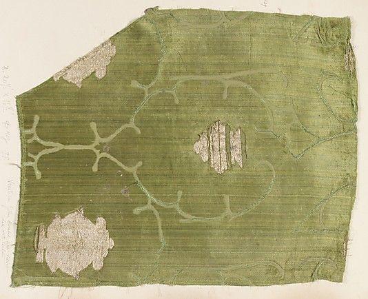 Fragment Date: late 15th century Culture: Italian, Venice Medium: Silk, metal thread Dimensions: Overall: 20 3/8 x 16 1/2 in. (51.8 x 41.9 cm) Classification: Textiles-Velvets