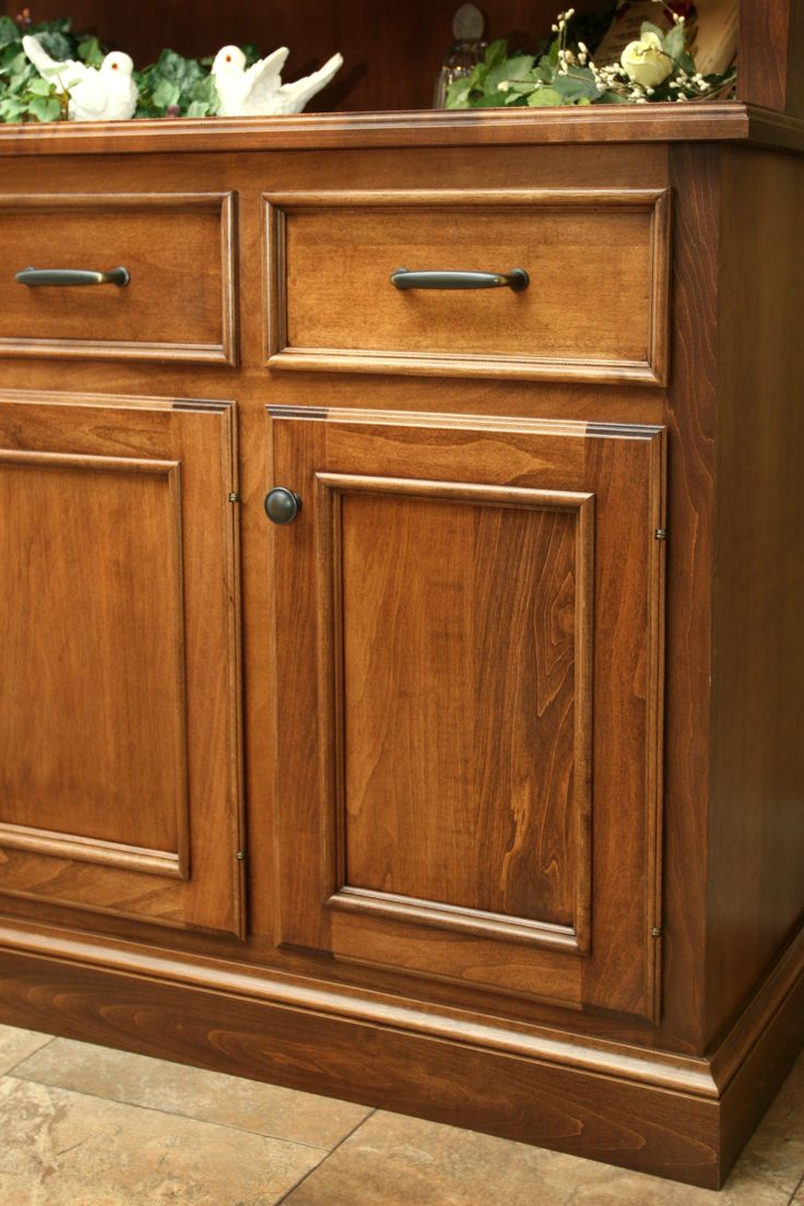 Stained maple cabinet detail  The Kitchen