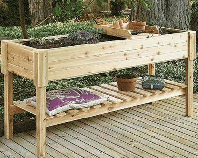 Raised Herb Garden Design On Highlander Wooden Raised Garden Planter 150