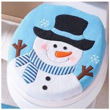 Año nuevo Feliz Navidad Decoración de Navidad de Santa Muñeco de nieve de Navidad Cómodo Tapa Sola Tapa Del Inodoro Tapa Del Inodoro(China (Mainland))