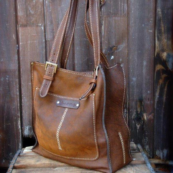 Classic Shopper -Zambezi Buff bovine | 100% handmade, hand stitched, hand cut and hand assembled. GoodiesHub.com