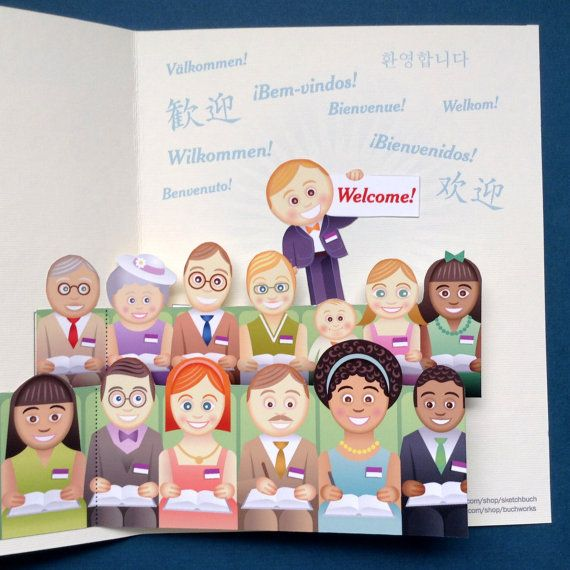 Print and Assemble Yourself International Convention Pop-up Welcome Card