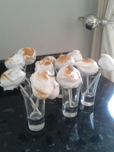 Chocolate cake pops with toasted meringue topping. .#dunelmbakeoff