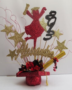Website that makes centerpieces for special occasions. Graduation centerpiece inspiration.
