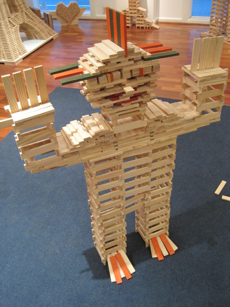 Man or monster either way building it with the KAPLA blocks is just plane fun!