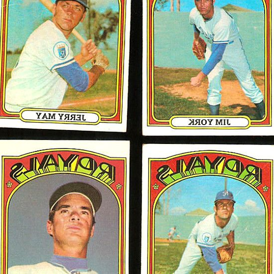 Buy  sell Kansas City Royals Team Sets at DeansCards.com, your No. Complete Sets Starter & Near Sets Team Sets & Lots Reprint Sets. tens-of-thouss of old vintage Kansas City Royals baseball cards made by Topps. Very Good/Excellent - 4. 1972 Topps Kansas City Royals Team Set. Lot of 6 – 1979 Topps Kansas City Royals Autographed Cards - Quirk, Hrabosky. 1972 Topps Baseball lot of 8 different cards. GEORGE BRETT 1981 TOPPS STICKER LOT OF 4-  243 SILVER FOIL ALL STAR-HOF. #BaseballCards…