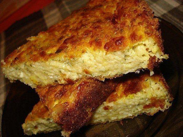 Кабачково - сырная запеканка..