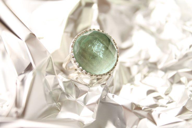 AF4 anillo facetado cristal #heidipeiranojewelry #coleccioncristals