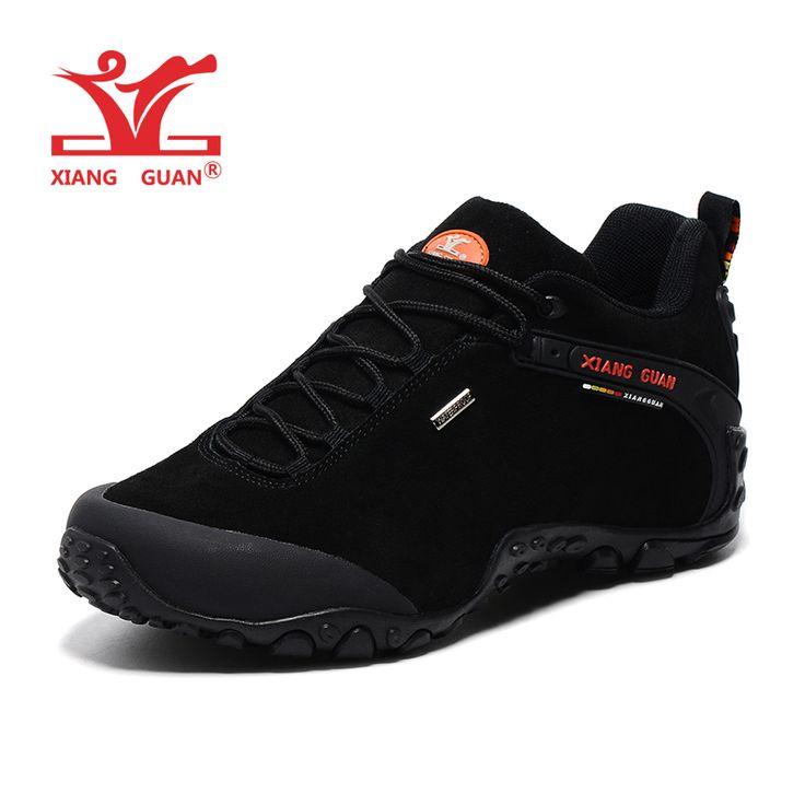 XIANGGUAN Man Hiking Shoes For Men Suede Athletic Trekking Boots Black Zapatillas Sports Climbing Shoe Outdoor Walking Sneakers