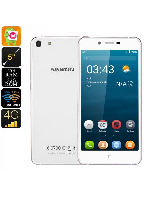 7.2mm Dual Glass Android Smartphone(White)