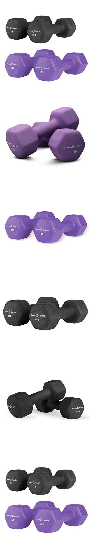 Fitness Republic Neoprene Dumbbells Pair Combo (12lb and 15lb Pair)