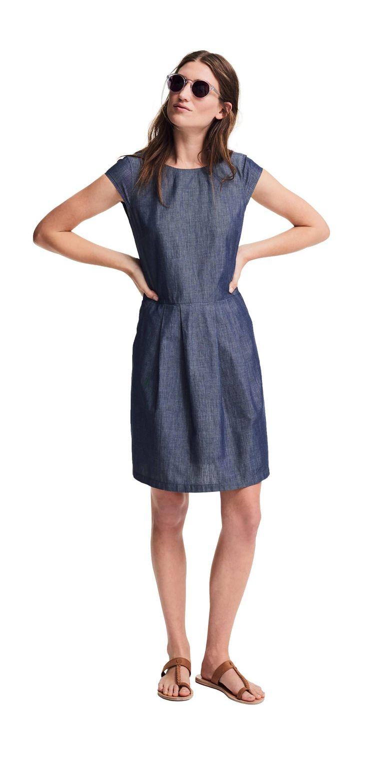 Das Outfit Das City-Kleid von OPUS Fashion, blaues Sommerkleid