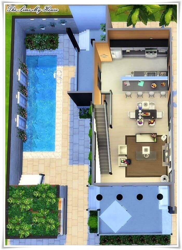 3d Plan Top View Amazing Ideas Engineering Discoveries In 2020 Sims 4 House Design Sims House Design Sims Freeplay Houses