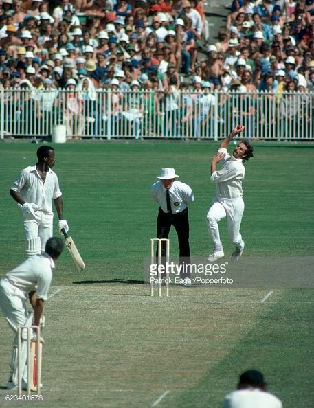 News Photo : Dennis Lillee of Australia bowling during the 3rd...