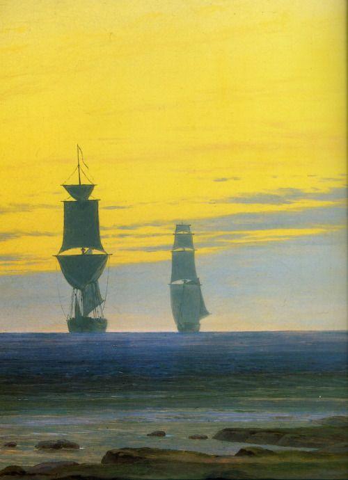 """sempiternele: """" """"Caspar David Friedrich, 'Les Trois Âges de la Vie', (Detail) """" """""""