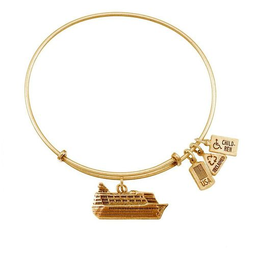 D Cruise Ship Bangle In Gold By Wind Fire Cruise Ships - Alex and ani cruise ship bangle