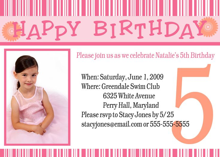264 best Templates images on Pinterest Birthdays, Invitation - format for birthday invitation