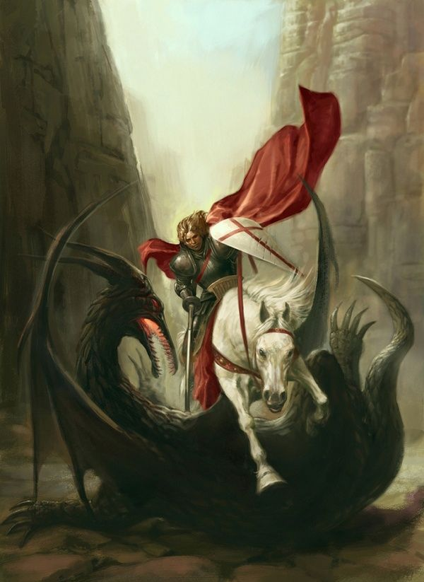 Saint George defeats Lucifer and entombs him using his own blood to seal the tomb
