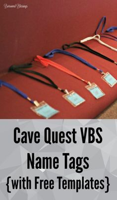 Cave Quest VBS Nametags {with Free Templates} - BorrowedBlessings.net