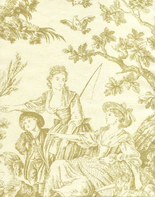 17 best images about toile de jouy fabric on pinterest pistachio green man - Toile de jouy papier peint ...