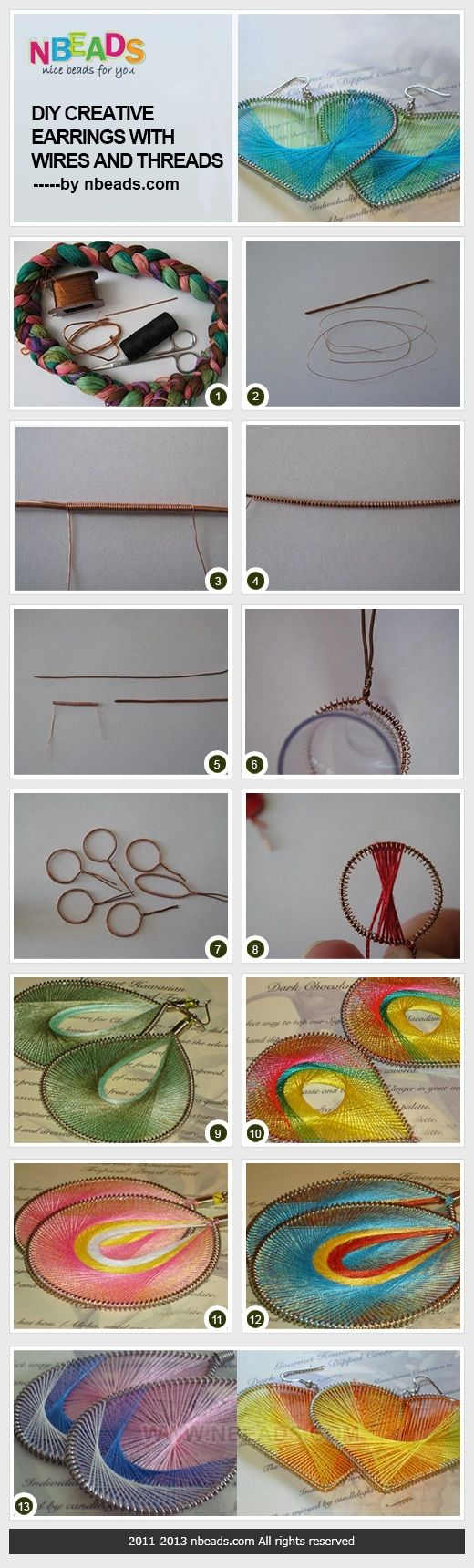 DIY Creative Earrings with Wires And Threads – Nbeads
