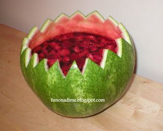 Watermelon Jello Bowl (she: Fun On A Dime Lady) - Or so she says...
