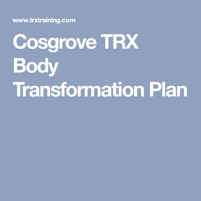 Cosgrove TRX Body Transformation Plan