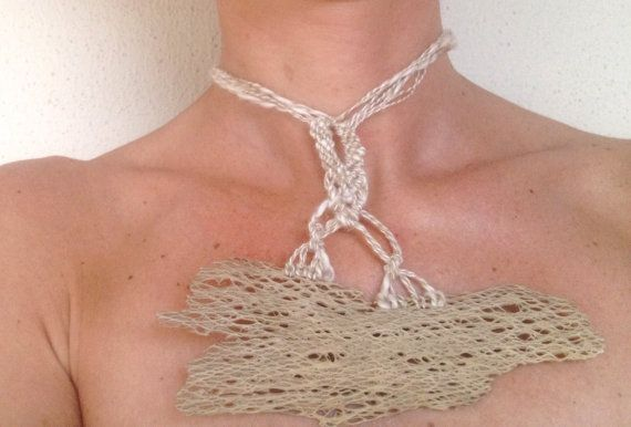 Collana originale pezzo unico con filo di lino e di morenamacrame #necklace #bohochic  #macrame #summer #naturaljewerly #madeinitaly
