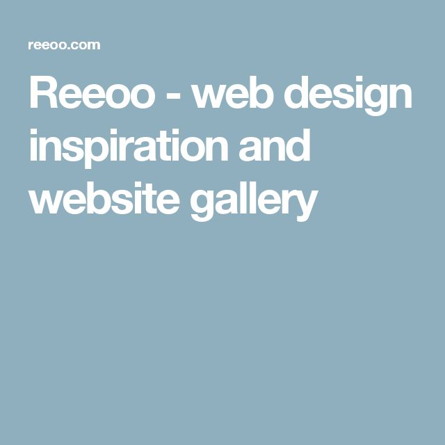 Reeoo - web design inspiration and website gallery